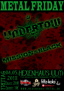 Live Konzert: Undertow, Mission in Black