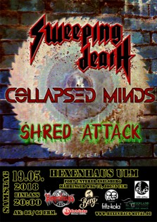 FMN live - Sweeping Death, Collapsed Minds, Shred Attack